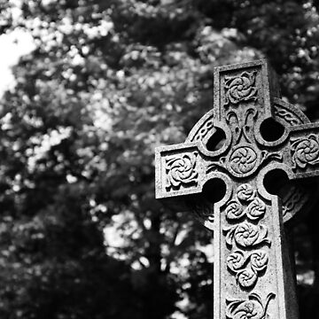 Celtic Cross in Black and White by MBTheriault