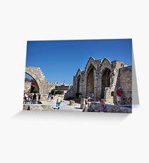 Church of Panagia tou Bourgou Greeting Card