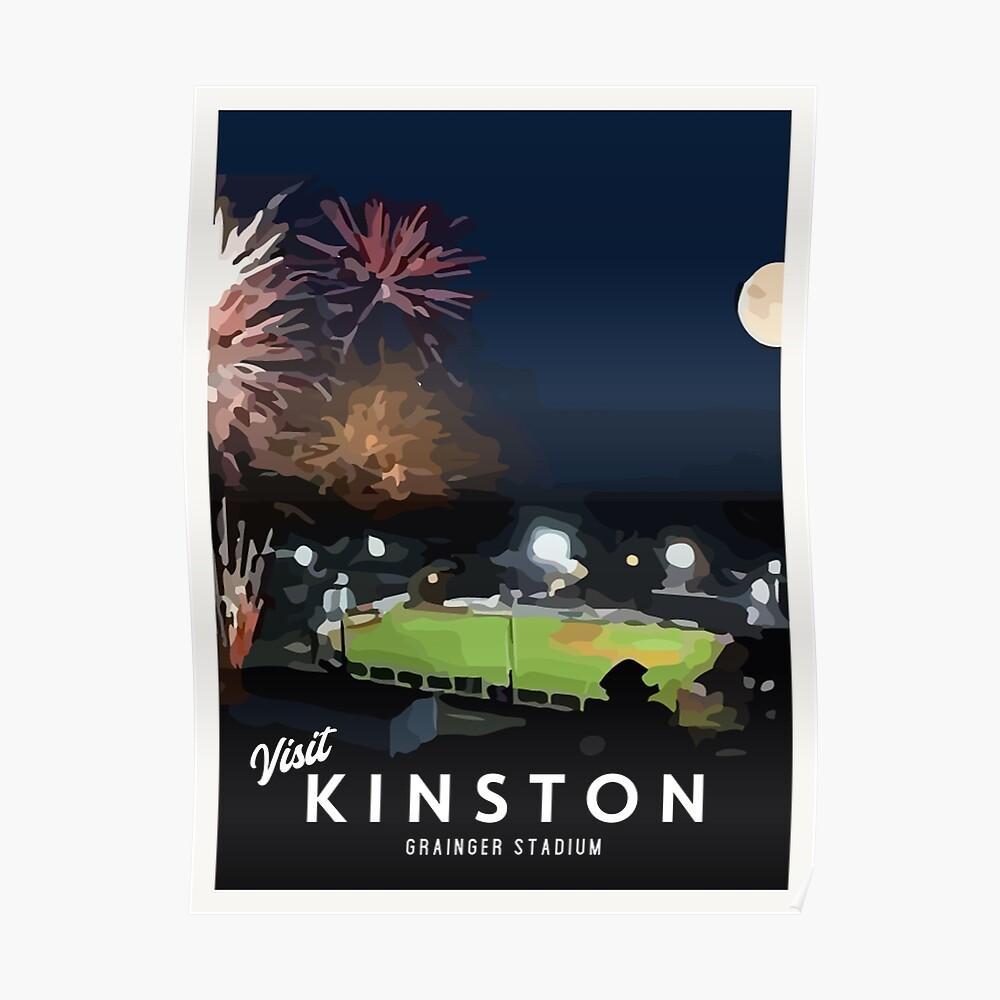 Retro Visit Kinston Grainger Stadium Poster Poster