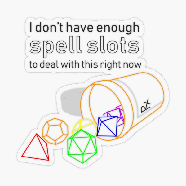 Spell Slots - Chronic Illness (Version 2) Transparent Sticker