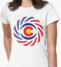 Coloradan Murican Patriot Flag Series Women's Fitted T-Shirt