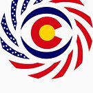 Coloradan Murican Patriot Flag Series by Carbon-Fibre Media