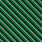 Stripes (Large) - Green and Silver by Sarinilli