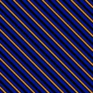 Stripes (Large) - Blue and Bronze by Sarinilli