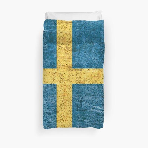 Drapeau de la Suède, cadeau patriotique suédois Housse de couette