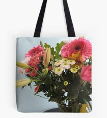 Fuchsia, White & Teal With Love Tote Bag