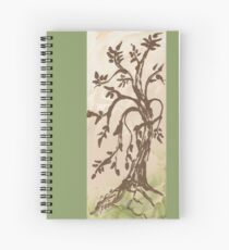 Young Willow Tree, Going With the Flow Spiral Notebook