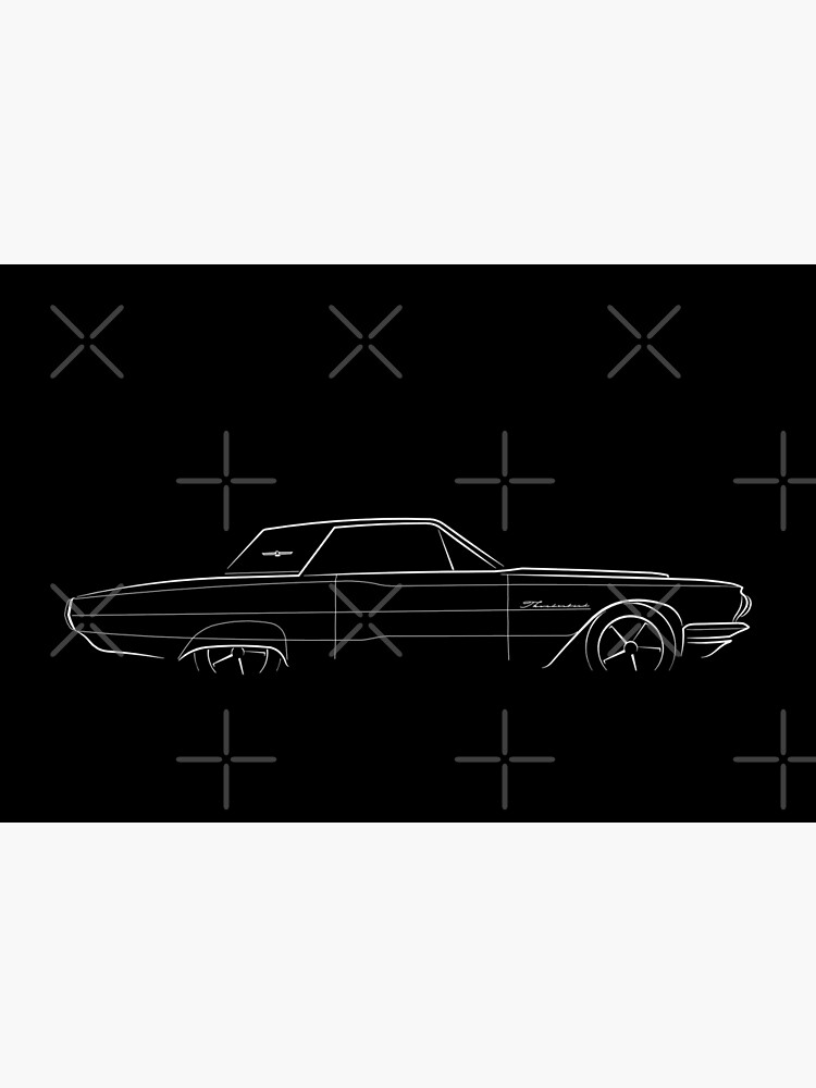 1964 Ford Thunderbird - profile stencil, white by mal-photography