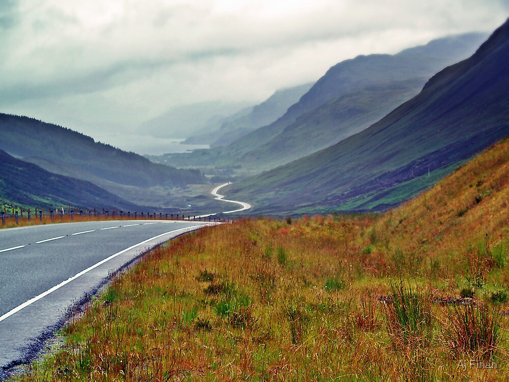 A Winding Road To Stormy Clouds by Aj Finan