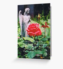 Angel with Roses 2 Greeting Card