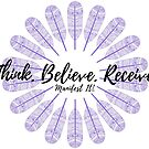 Manifest It! Think Believe Receive Purple by Jaclyn Johnston