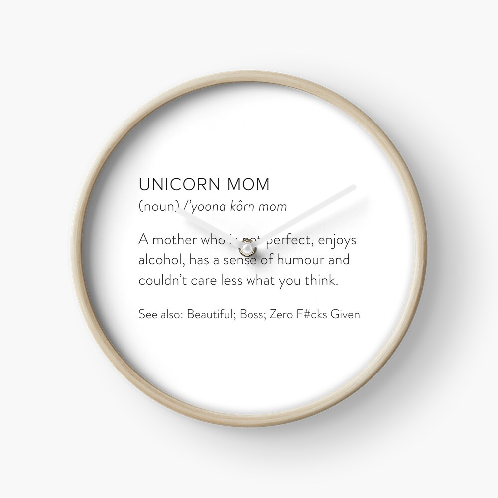Unicorn Mom Clock