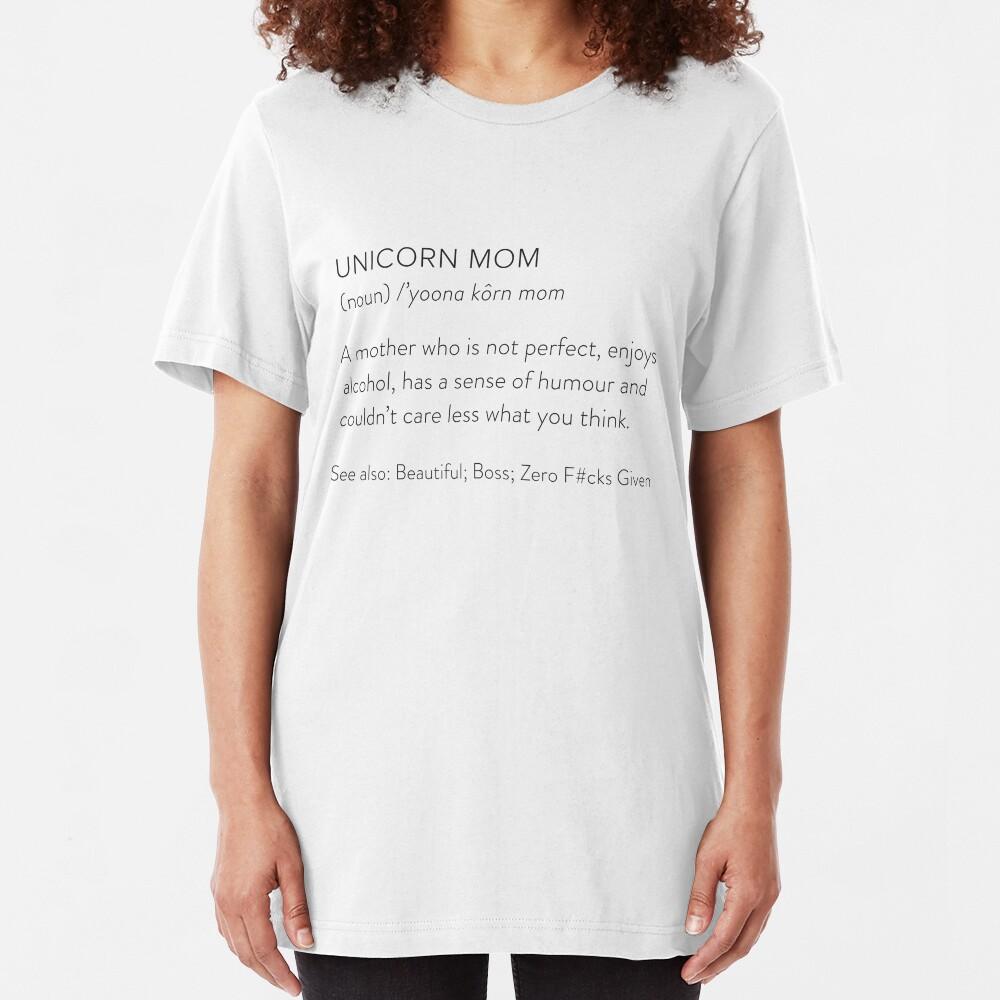 Unicorn Mom Slim Fit T-Shirt