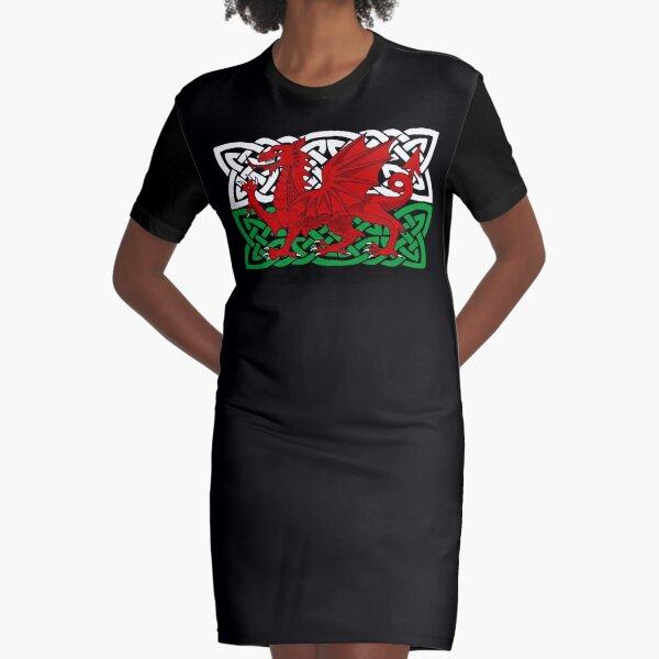 Y Ddraig Goch Graphic T-Shirt Dress