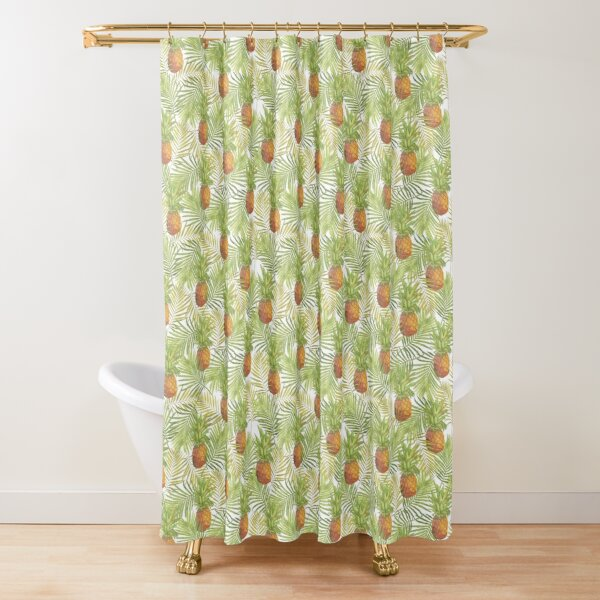 Vintage Inspired Pineapples Shower Curtain