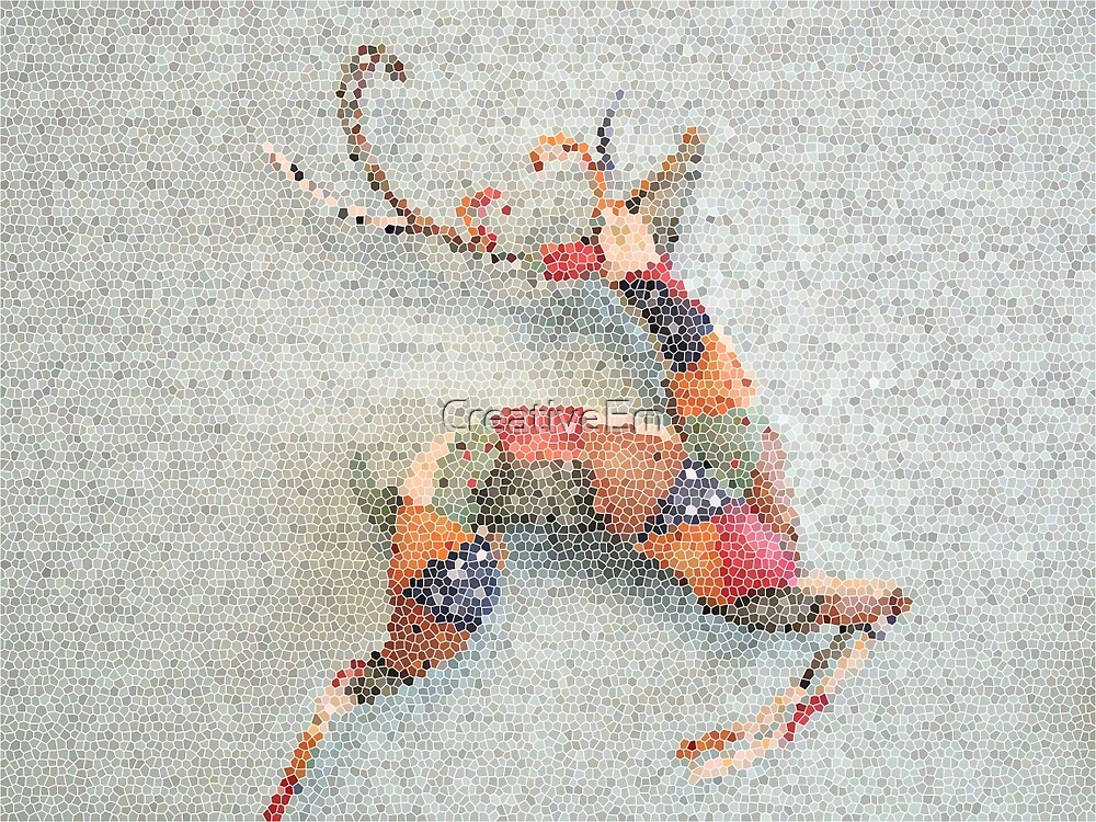 Patchwork Reindeer in the Snow by CreativeEm