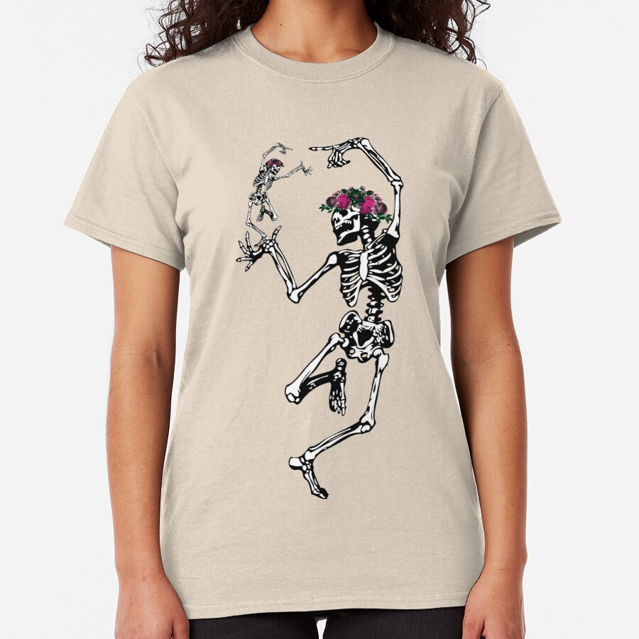Two Dancing Skeletons   Day of the Dead   Dia de los Muertos   Skulls and Skeletons   Classic T-Shirt