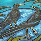 NIGHT BIRDS II by Susan Greenwood Lindsay