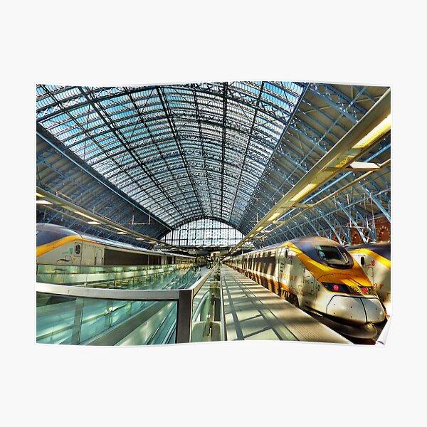 Canvas Eurostar Train at Gare du Nord Art print POSTER