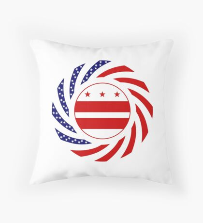 DC Murican Patriot Flag Series Throw Pillow