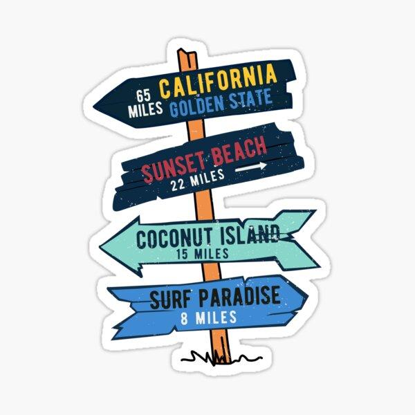 Vintage Surf Sticker California Beach Cartel de madera Pegatina