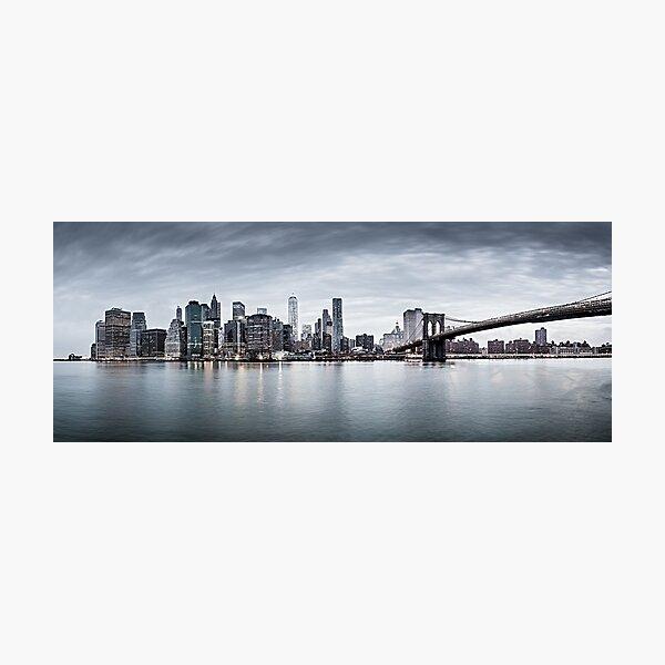 New York city sunset panorama  Photographic Print