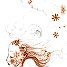Femme végétale au vent by art-mella