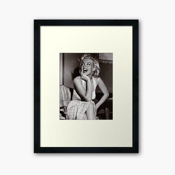 Happy, Laughing Marilyn Monroe Framed Art Print
