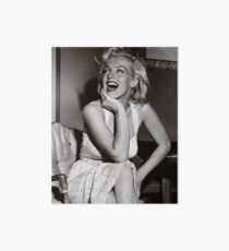 Happy, Laughing Marilyn Monroe Art Board Print