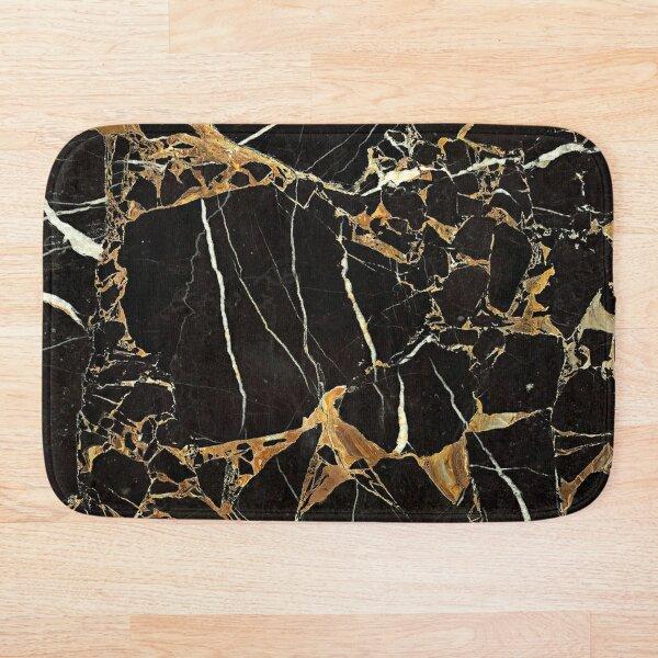 Black + Gold Bath Mat