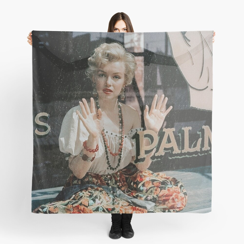 Witchy Marilyn Monroe at Her Palm Reading Scarf