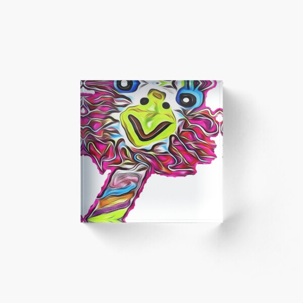 The Crazy Emu Cut Out! Acrylic Block