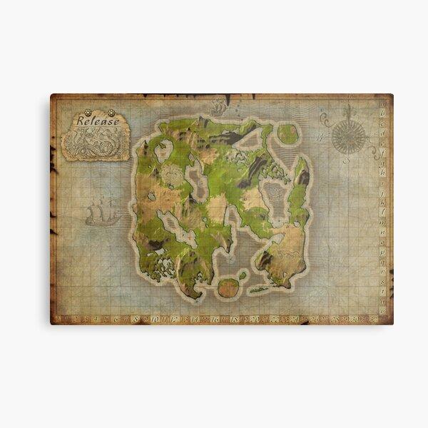 Wurm Online Release map Metal Print