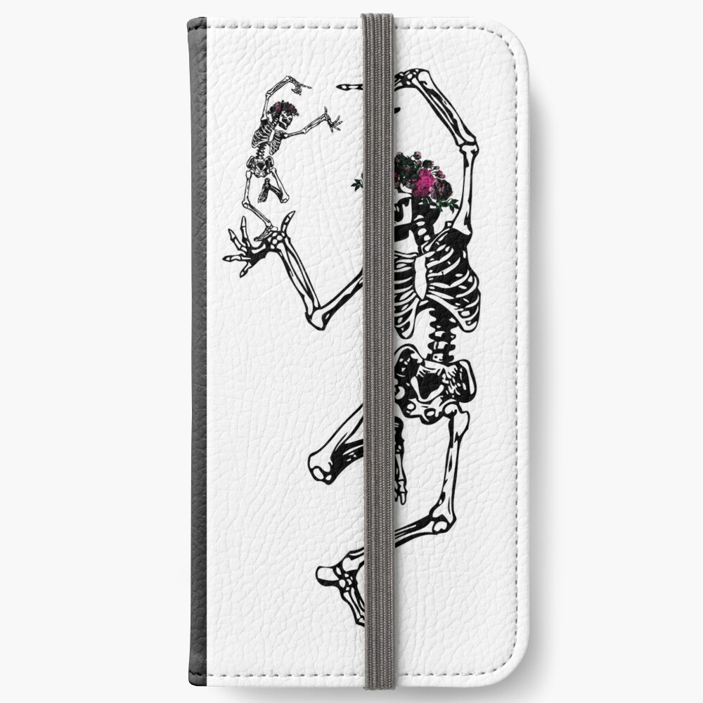 Two Dancing Skeletons | Day of the Dead | Dia de los Muertos | Skulls and Skeletons | iPhone Wallet