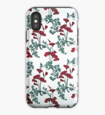 Red Poppies Vintage Victorian Wallpaper iPhone Case