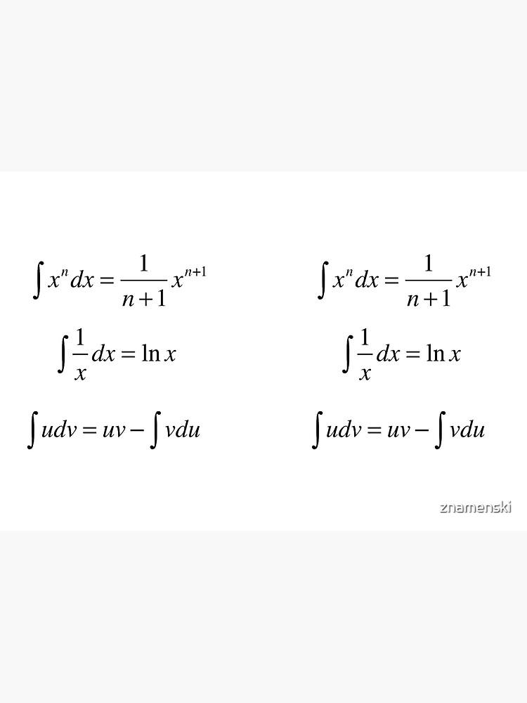 #Integrals, #math, #calculus, #mathematics, Integral, natural, logarithm, naturalLogarithm, exponent Physics by znamenski