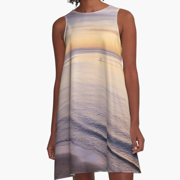Sunset Paddle A-Line Dress