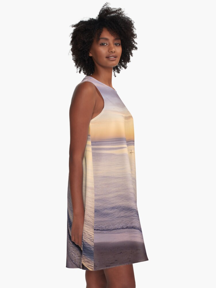 Alternate view of Sunset Paddle A-Line Dress