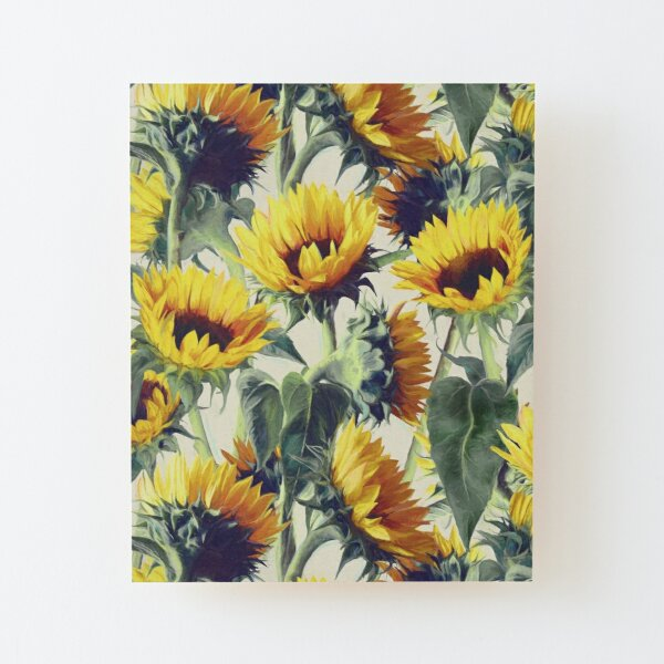Sunflowers Forever Wood Mounted Print