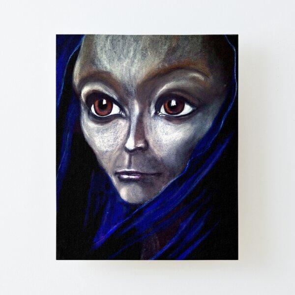 Jrooti's Blue Silk Scarf Canvas Mounted Print