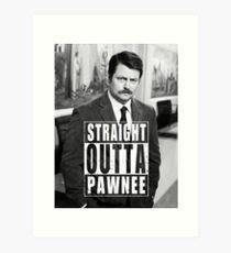 Striaght Outta Pawnee Art Print