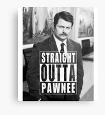 Striaght Outta Pawnee Metal Print