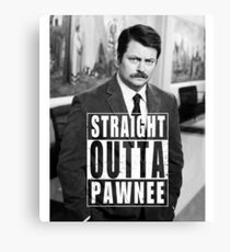 Striaght Outta Pawnee Canvas Print