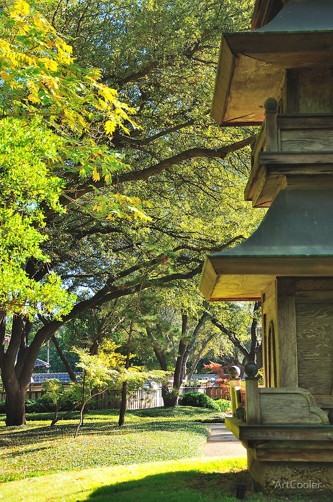 Pagoda and Trees by ArtCooler