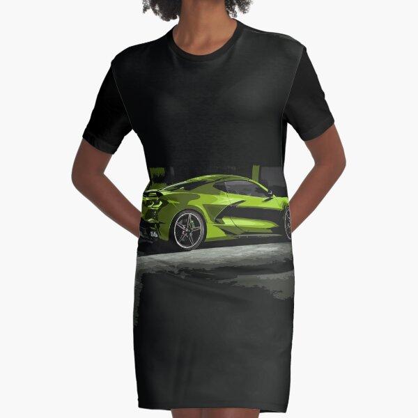 Chevrolet Corvette C8 Graphic T-Shirt Dress