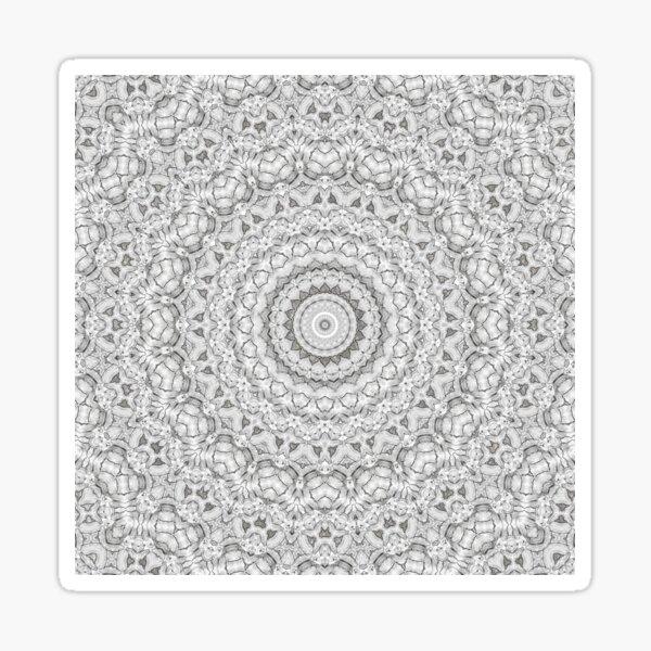 Flower Mandalal_MG_2221 Sketch BW Sticker