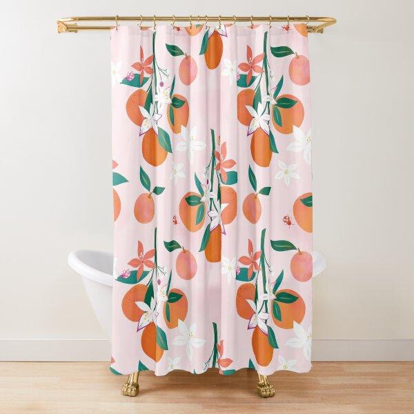 Orange Blossoms  Shower Curtain
