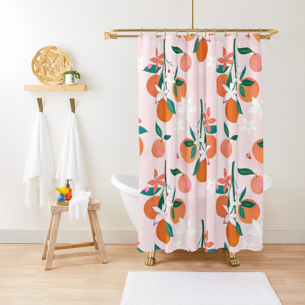 Orange Blossoms  Shower Curtain