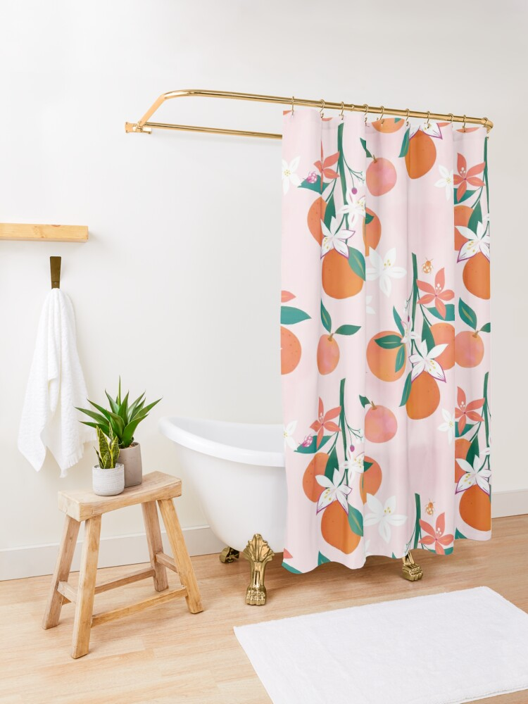 Alternate view of Orange Blossoms  Shower Curtain