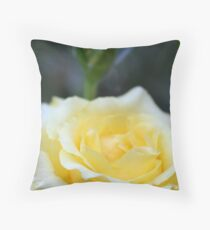 Yellow Rose With Terry Twist Throw Pillow